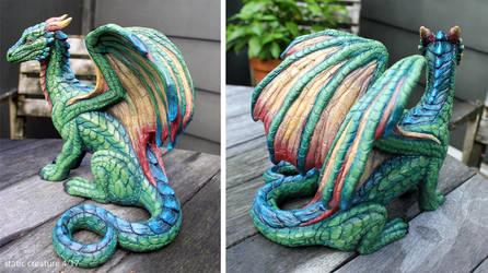 Green dragon sculpture by zarathus