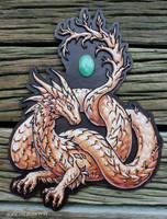 Chrysoprase noodledragon - for sale by zarathus