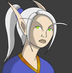 Blood elf for guild banner by JCServant