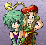 Rydia and Edward - FFIV by xkappax