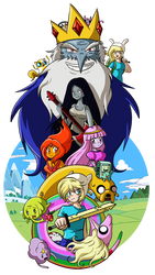 Anime Adventure Time by xkappax