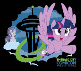 Emerald City Comicon 2016 Shirt by xkappax