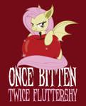 Once Bitten, Twice Fluttershy Tee Shirt Design by xkappax
