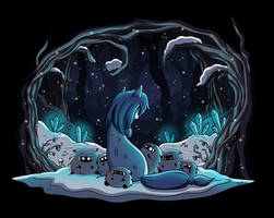 Suicune in the Snow by xkappax