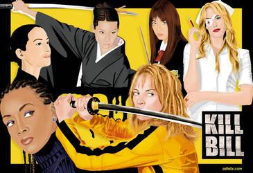 Kill Bill Volume 1 characters by budcali