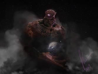 Chtulu carrying the world by BaronVonMunchausen