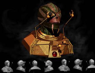Steam Punk Alien by BaronVonMunchausen