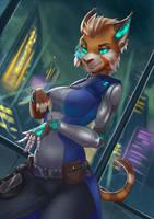 Cyborg Lana by W-Fang