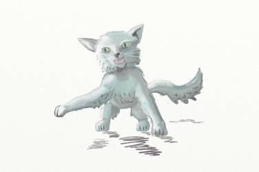 Practice kitten (digital) by Valkyrie335