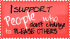 I support People..... by SavannaH09