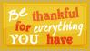 Be thankful..... by SavannaH09