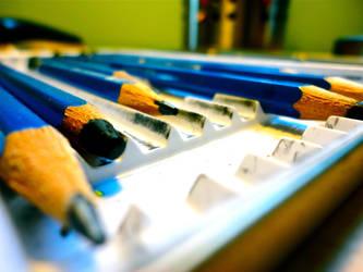 Blue Pencils by meganathebanana