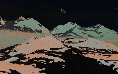 Neon Mountain by Lithium-Polygon