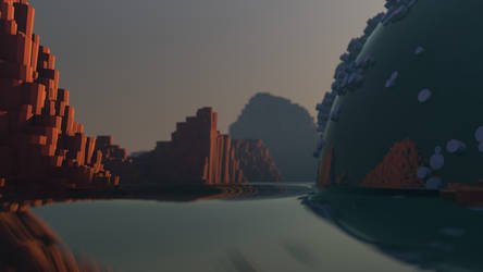 Rocks and Water 2 by Lithium-Polygon