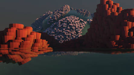Rocks and Water 3 by Lithium-Polygon