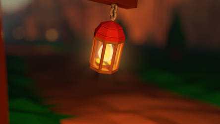 Hanging Lantern - Low Poly by Lithium-Polygon