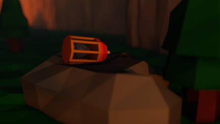 Unlit Lantern - Low Poly by Lithium-Polygon