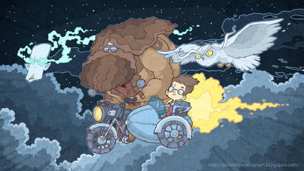 Volan-de-Mort and heavenly motorcycle by lost-angel-less