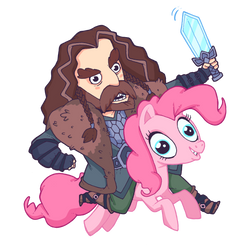 Pinkie Pie and Thorin Oakenshield by lost-angel-less