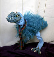 BLUE Tie-REX marionette puppet by hikigane