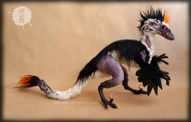 Jack the burnt - ooak raptor art doll by hikigane