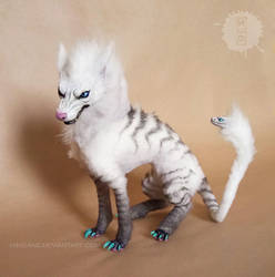 wolf chimera oak art doll by hikigane