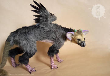 TRICO The Last Guardian - ooak art doll by hikigane