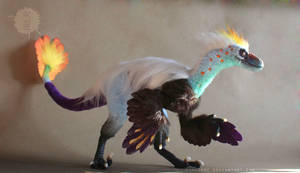 OOAK poseable Paradise Raptor by hikigane