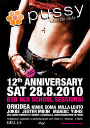 PUSSY 12 ANNIVERSARY POSTER by jlm