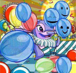 Clownette_Bleue the Fairy Clown by Le-Poney-Dragonique