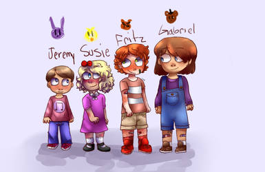 FNaF missing kids( main four) by MadMaddyGirl