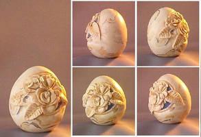 Faux Rock Rose Egg by Glori305