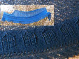 Blue Box Scarf by Glori305