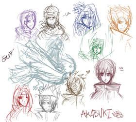 AKATSUKI AWESOME TIEM. by dark-reign