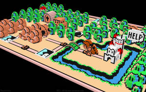 3D Nintendo Mario 3  World 1 by NES--still-the-best