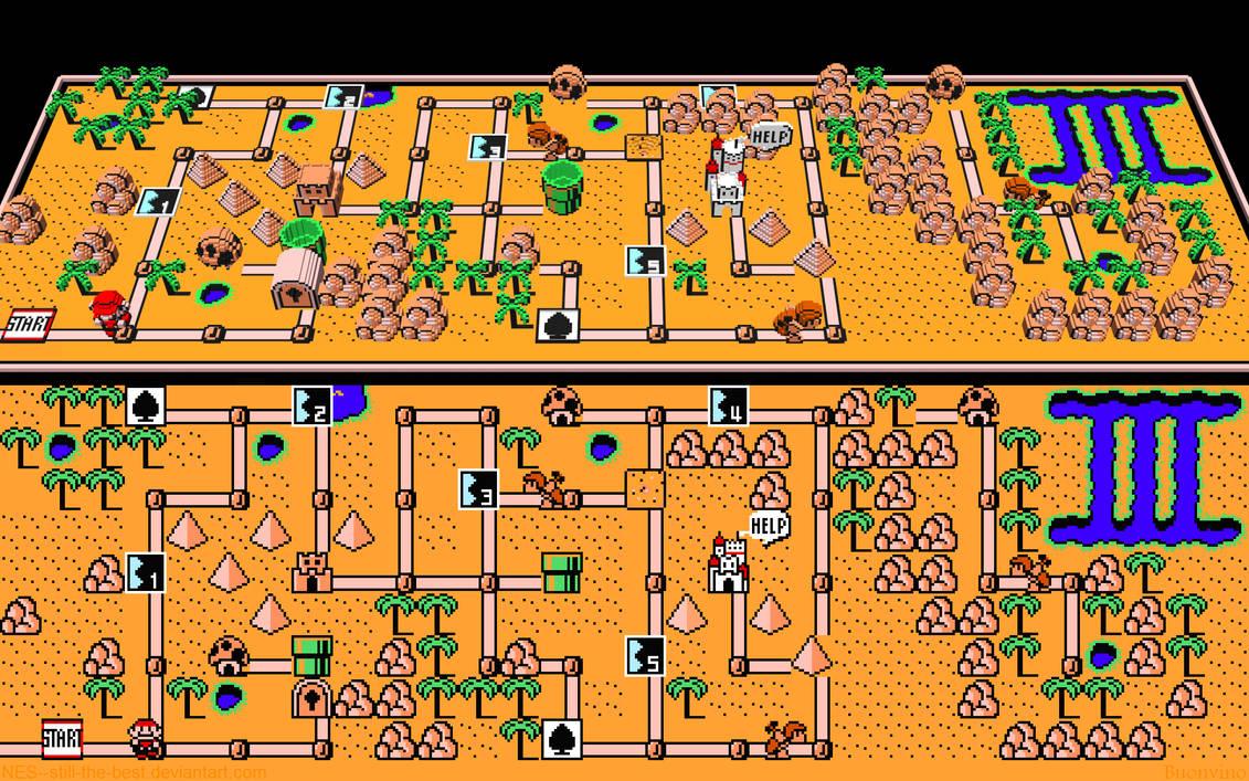 Mario 3 World Map.3d Mario 3 World 2 By Nes Still The Best On Deviantart