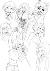 MHA - Best Grills sketchpage by ZeeMonster