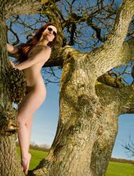 Tree, Sunglasses, Naked Girl by Zal-C