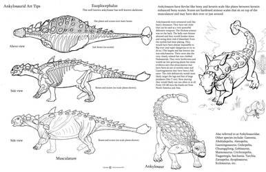 Art tips ankylosaurids by Auronyth