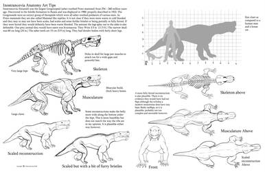 Inostrancevia Anatomy art tips by Auronyth