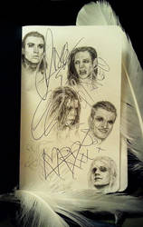 LOTL. Portraits on the autographs of musicians ^_^ by Shtarka