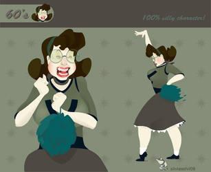 60's pompon girl by wizzyloveszebras