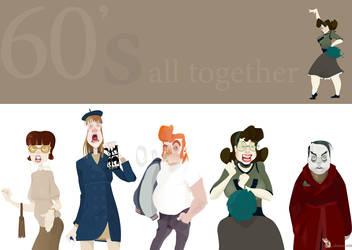 60's characters by wizzyloveszebras