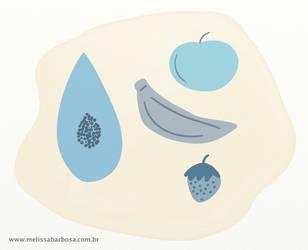 Blue fruit by MelBarbosa