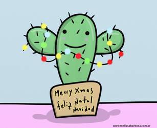 Merry Cactistmas by MelBarbosa