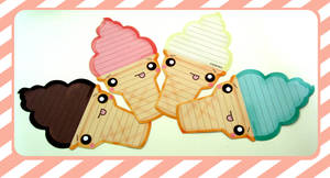 Ice cream cone Letters by kickass-peanut