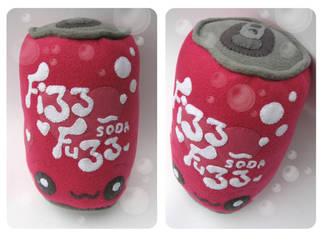 Fizz Fuzz Soda Plushie by kickass-peanut