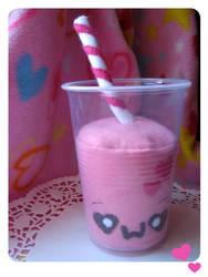 Strawberry Milk Plush by kickass-peanut