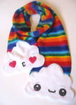 Rainbow Scarf by kickass-peanut