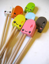 Pencil Toppers by kickass-peanut